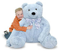 Большой плюшевый мишка, голубой, 76см х. 69см Jumbo Blue Teddy Bear Melissa & Doug (MD3983)