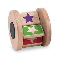 "MD4045 New Baby - Flip Flap Drum (Деревянная крутилка ""Звездочка"") Melissa & Doug"