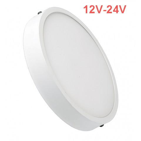 Світлодіодний світильник накладної Slim SL-463 18W 12-24V 4000K круглий білий IP20 Код.59469