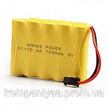 Аккумулятор для игрушек на радиоуправлении Ni-Cd 6V 700 mAh
