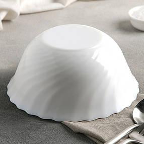 Салатник білий склокерамічний Luminarc Trianon 180 мм (D6882), фото 2