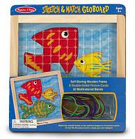 MD4373 Stretch & Match Geo Board (Резиновая шнуровка) Melissa & Doug