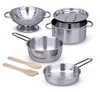 MD14265 Pots & Pans Set (Игровой набор посуды из нержавеющей стали) Melissa & Doug
