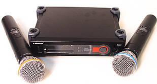 Радиосистема Shure SLX4 база 2 микрофона Черный Реплика (009628)