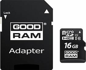 Карта памяти microSDHC 16GB UHS-I class 10 + adapter