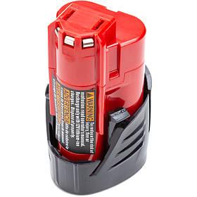Акумулятор PowerPlant для дамських сумочок та електроінструментів MILWAUKEE 12V 3.0 Ah Li-ion (48-11-2440