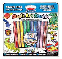 """MD5240 Magic Art Studio Blue (Волшебный набор для мальчиков """"Раскраска, наклейка, трафарет"""") Melissa & Doug"""