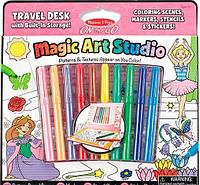 """MD5500 Magic Art Studio Pink (Волшебный набор для девочек """"Раскраска, наклейка, трафарет"""") Melissa & Doug"""