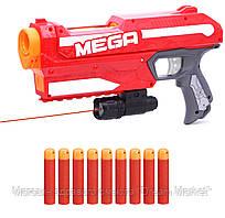 Мега бластер Нерф, Магнус + подарок лазерный прицел - Magnus, Blaster, Mega, Nerf, Hasbro