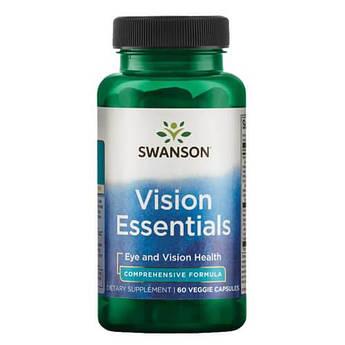 Бад для поддержании здоровья глаз, Swanson Condition Specific Vision Essentials 60 капсул