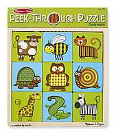"MD7883 Peek-Through Puzzle Animals (Пазл-трафарет ""Животные"") Melissa & Doug"
