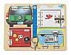 MD19540 Locks Board (Деревянная доска с защелками и блокировкой) Melissa & Doug