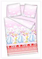 """Постельные подростковые и детские ткани 220 см """" Принцессы"""""""