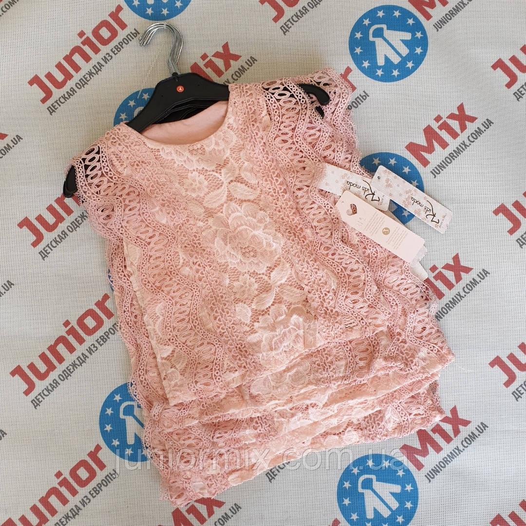 Гипюровая детская блузка для девочек  оптом Kids Moda