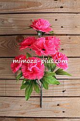 Искусственные цветы - Гвоздика букет, 37 см