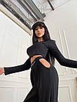 Жіночий спортивний костюм, турецький мустанг, р-р 42-44; 44-46 (чорний), фото 5