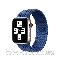 Ремешок (тканевый моно браслет) Braided Solo Loop для Apple Watch 38mm/40mm Size 4 (132 mm) Atlantic Blue