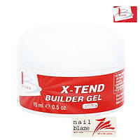 Гель Blaze X-Tend Builder Clear white Gel, 15 мл белый