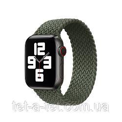 Ремешок (тканевый моно браслет) Braided Solo Loop для Apple Watch 38mm/40mm  Size 4 (132 mm) Inverness Green