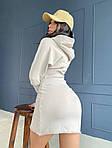 Женское платье, трикотаж - рубчик, р-р 42-44; 44-46 (молоко), фото 2