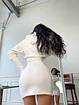 Женское платье, трикотаж - рубчик, р-р 42-44; 44-46 (молоко), фото 4