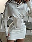 Женское платье, трикотаж - рубчик, р-р 42-44; 44-46 (молоко), фото 5