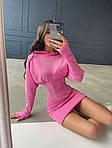 Женское платье, трикотаж - рубчик, р-р 42-44; 44-46 (розовый), фото 3