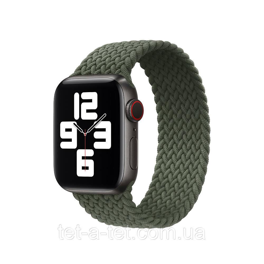 Ремінець (тканинний моно браслет) Braided Solo Loop for Apple Watch 42mm/44mm Inverness Green Size 8 (160 mm)