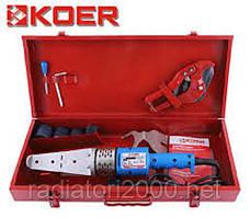 Паяльник для полипропиленовой трубы KOER SET-01 (700ВТ, 4 насадки, ножницы)