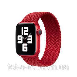 Ремешок (тканевый моно браслет) Braided Solo Loop для Apple Watch 38mm/40mm Red Size 4 (132 mm)