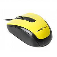 Дротова комп'ютерна мишка Maxxter Mc-325 Жовтий
