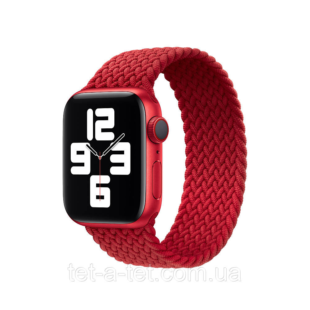 Ремінець (тканинний моно браслет) Braided Solo Loop для Apple Watch 38mm/40mm Red Size 6 (144 mm)