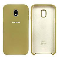 Чехол-накладка Original Silicone Samsung J3 2017 (J330) Золотая