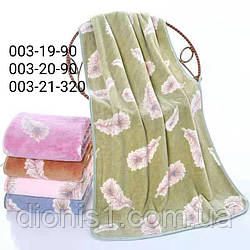 Банное полотенце Фибра Перья размер 70*140 3шт