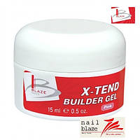 Гель Blaze X-Tend Builder Clear Pink Gel, 15 мл розовый