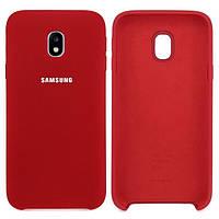 Чехол-накладка Original Silicone Samsung J3 2017 (J330) Красная