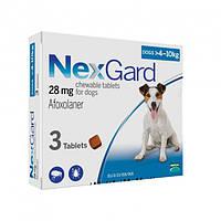 Таблетки Merial Нексгард від бліх та кліщів для собак вагою 4-10 кг (M) 1 шт. х1.25 (3661103042860)