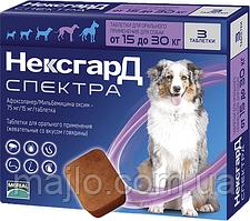 Жевательные таблетки Merial Нексгард Спектра для собак L (15-30кг) 3 шт (3661103048602)