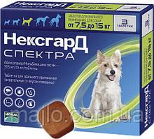 Жувальні таблетки Merial Нексгард Спектру для собак M (7.5-15кг) 1 шт (3661103048596)