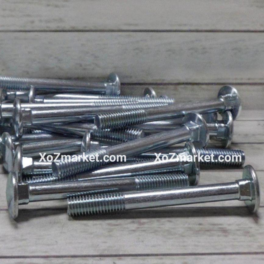 Болт замковый Ø 8х100 мм ➜ 100 штук/упак ➜ Болт мебельный DIN 603