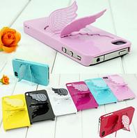 Чехол-подставка SGP пластиковый Крылья ангела розовый для Iphone 5/5s/5c