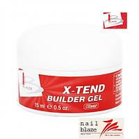 Гель Blaze X-Tend Builder Clear Gel, 15 мл прозрачный
