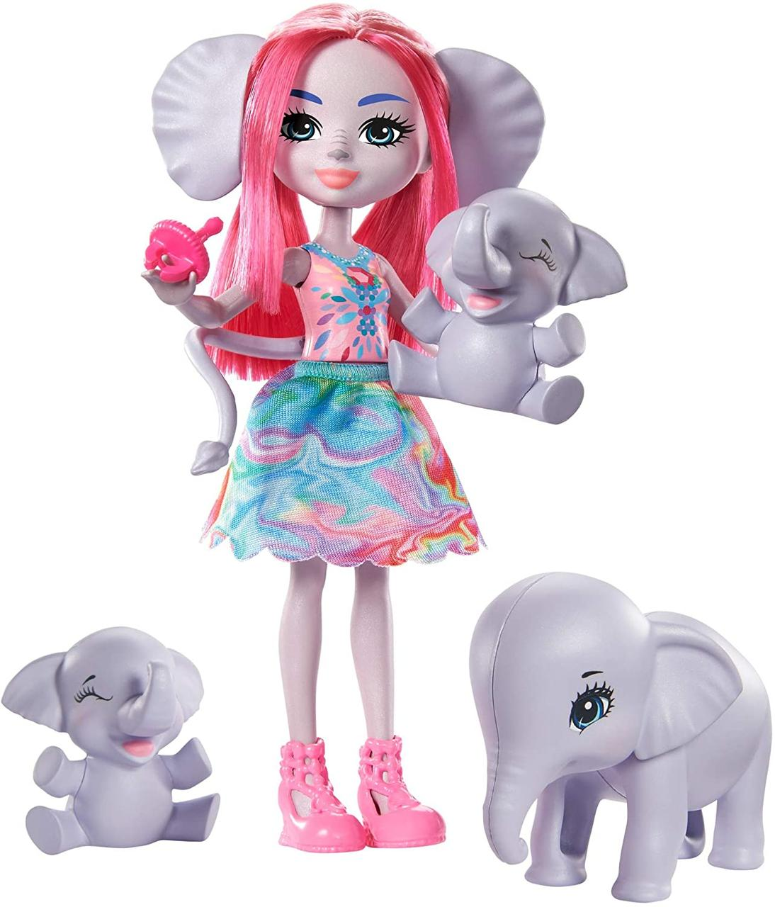 Кукла Энчантималс Семья слоненка Эсмеральды - Enchantimals Esmeralda Elephant GTM30