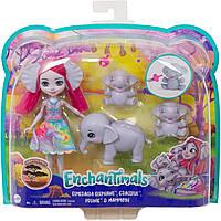 Кукла Энчантималс Семья слоненка Эсмеральды - Enchantimals Esmeralda Elephant GTM30, фото 7