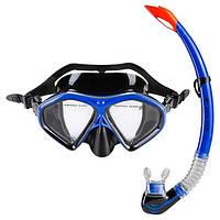 Набор для плавания маска и трубка черно-синий Dolvor mod. 289PVC