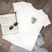 Жіноча футболка бавовна біла з принтом Jerry джеррі Mouse мишка, фото 1