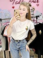 Женская футболка хлопок белая с принтом Авокадо Avocado, фото 1