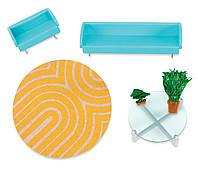 Мебель для гостиной голубая, мебель для кукол, Lori (LO37031Z)