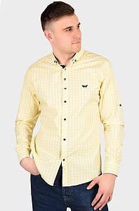 Рубашка мужская желтая AAA 128944P