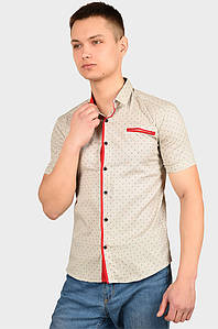 Рубашка мужская бежевая AAA 128926P